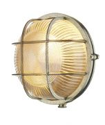 Admiral Solid Brass Round Outdoor Wall Light in a Brass Finish IP64 - DAVID HUNT ADM5040